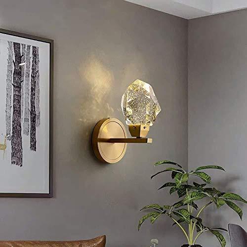 lámpara de pared Burbuja ligera de la pared del arte moderno del cristal de hielo Luz sala de estar minimalista dormitorio lámpara de cabecera de la lámpara de pared del pasillo 12 * 20cm cubierta ilu