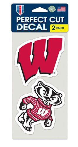 NCAA University of Wisconsin Perfect Cut Decal (Set of 2), 4' x 4'