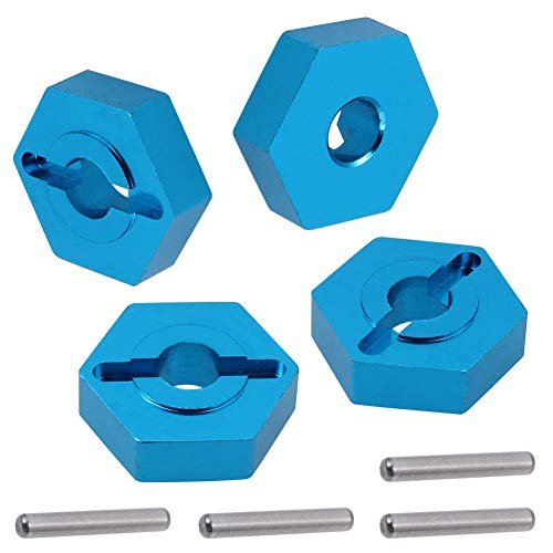 Aluminum 7mm to 12mm Hex Wheel Hub Adapter for 1/18 Wltoys Car Turn to 1/10 Wheels