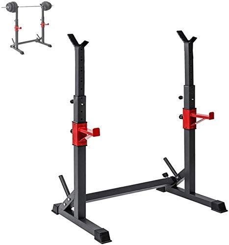 AMITD Einstellbare Hochleistungs-Squat Rack-Stativ Gewicht Hebeständer, Multifunktions-Haushalt Barbell Stand, Krafttraining, Sportstudio im Hause, Multifunktions-Sturdy Durable