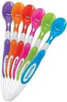 munchkin 011003/03 cucchiai manico lungo e punta morbida, multicolore