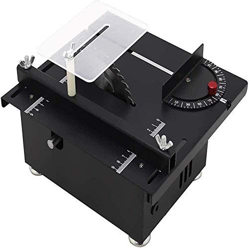 Tischkreissäge, multifunktionale elektrische Mini-Tischkreissäge 895 Spindelmotor DC24V-6A Hubsägeblatt Holzbearbeitungsbank Holzschneidetischsäge