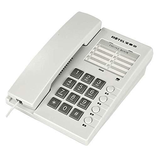 Ousai Habitación de teléfono Fijo en el hogar del Hotel. Se Puede Colgar en la Pared. Teléfono Fijo Negro Blanco. (Color : Blanco)