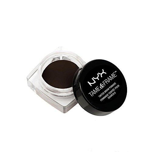 NYX Professional Makeup Tame & Frame Brow Pomade - wasserfeste Augenbrauenpomade, wischfestes Gel in 5 Farbtönen, für Haut und Härchen, 5g, Black 05
