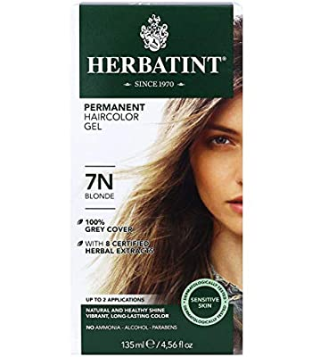 Herbatint Permanent Haircolor Gel, 7N Blonde, 4.56 Ounce