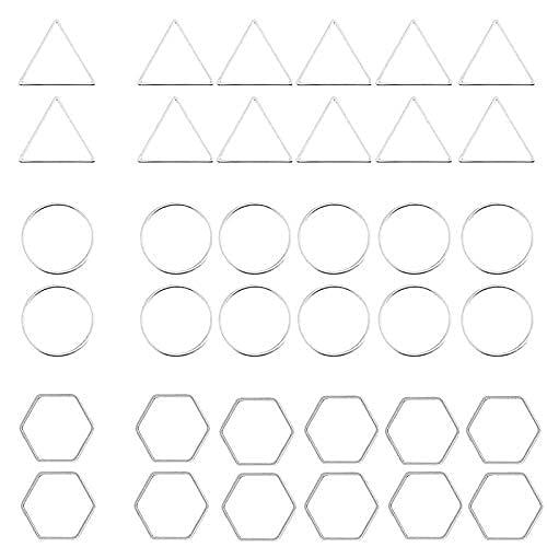 120 pendientes de plata rebordear geométrico pendiente de aro encontrando conector joyería para bricolaje joyería mujer