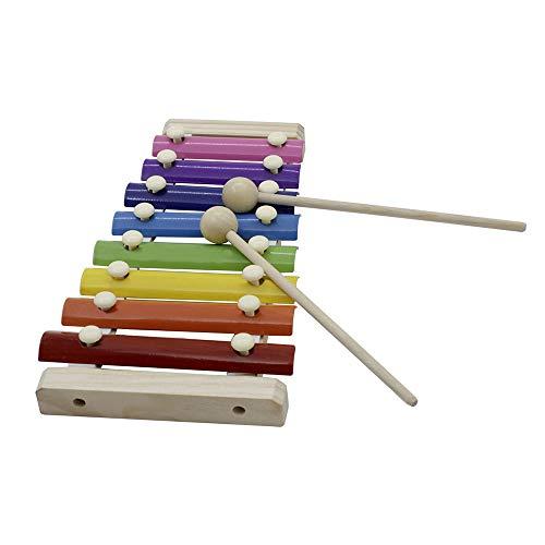 8-Note Bunte Xylophon Glockenspiel mit Holz Schlägel Percussion Musikinstrument Spielzeug Geschenk für Kinder Kinder