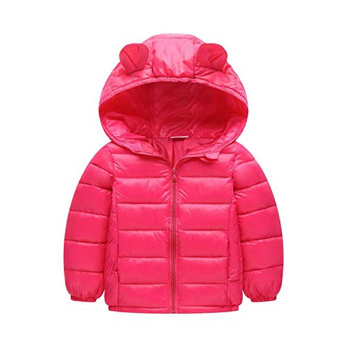Guy Eugendssg Infant Coat Autumn Winter Baby Jackets for Baby Boys Jacket Kids Warm Outerwear Coats Rose 18M