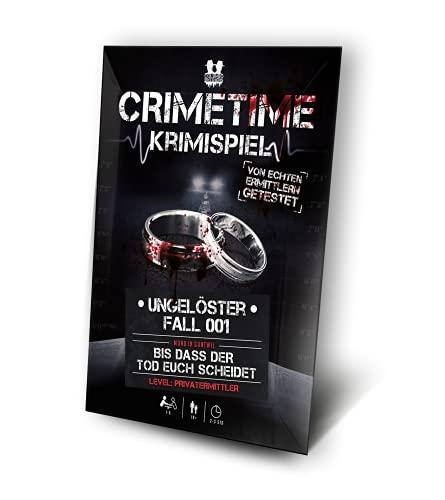 CRIMETIME Krimispiel - Fall 001 - Bis DASS der Tod euch scheidet - Escape Room Spiel - Tatort