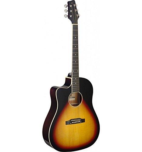 Stagg SA35 DSCE-VS LH – elektro-akoestische gitaar voor linkshandigen Sunburst