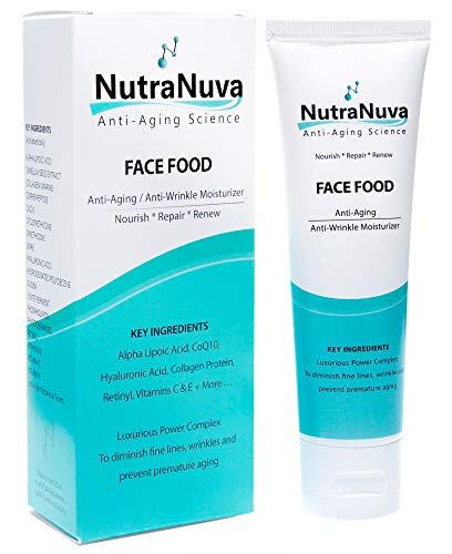 NutraNuva Anti Aging Face/Neck Cream & Eye Wrinkle VEGAN Moisturizer - Hyaluronic Acid, GHK Copper Peptides, CoQ10, Vitamin C & E, Retinyl, PhytoCeramides, Collagen Protein – Night/Day Skincare