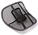 ANVEY WITH A (LOGO) Chair Massage Back Lumbar Support Mesh Ventilate Cushion Pad Car Seat
