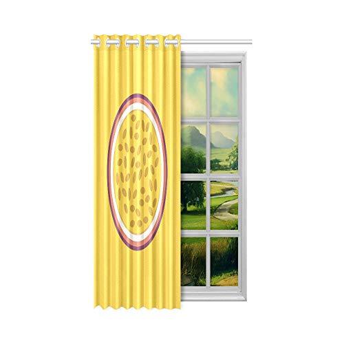 XiexHOME Vorhang Badezimmerfenster Köstliche süße Passionsfrucht beleuchtete Vorhänge für Schlafzimmer 52x63 Zoll (132x160cm) 1 Panel Blackout Tülle Vorhang für Schlafzimmer Wohnzimmer