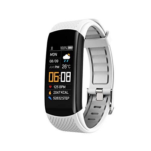 Mnbf 1 pulsera inteligente de presión arterial, pulsera de seguimiento del sueño, reloj deportivo para hombres, mujeres y niños, para reloj inteligente de actividad (blanco)