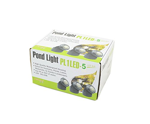 Jebao Submersible LED Pond Light with Photcell Sensor, Set of 5