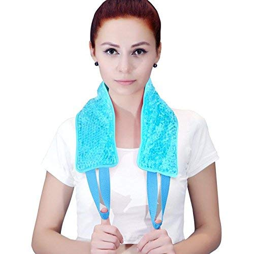 Ice Packs for Injuries, Hot/Cold Therapy Pack for Neck Shoulder Back Knee,Reusable Gel Beads Cooling Neck Wrap Pain Relief for Injuries,Swelling, Aches, Bruises & Sprains