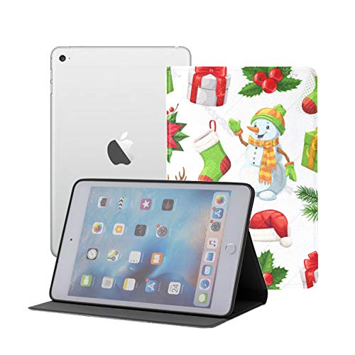 Compatible for iPad Mini 1/2/3 Case, Slim Fit All Round Protect Cover Christmas And New Year Stand Angles with Auto Sleep/Wake