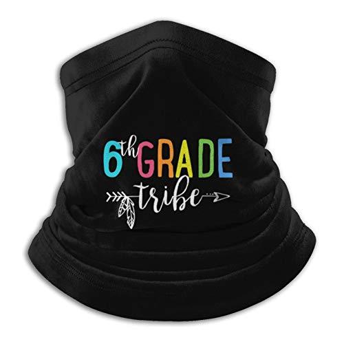 Team 6th Grade Tribe Neck Gaiter Tube Mask Headwear, Motorcycle Face-Mask Face Scarf, Balaclava Black