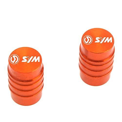 VRDN de alta calidad Motocicleta CNC Aluminio Accesorio de aluminio Válvula de neumático Tapa de válvulas para S.y.m MaxSym 400 600i TL 500 Joyride Cruisym 150 180 300 100% nuevo (Color : Orange)