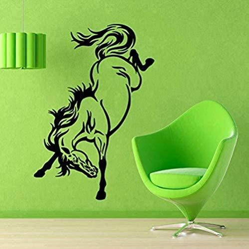ffvve 35 x 52 cm hermoso caballo pegatinas de pared arte vinilo Mustang extraíble moderno pegatinas de pared decoración del hogar animal papel pintado