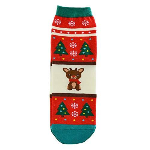 Augproveshak 5 Paar Weihnachtssocken Geschenk, knöchelhohe Socken für Männer & Frauen