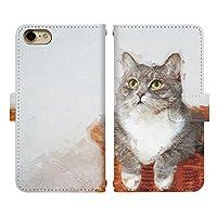 iPhone 8 Plus ベルトあり 手帳型 スマホケース スマホカバー di840(R) 猫 ねこ ネコ 動物 アニマル アイフォン8プラス アイフォンエイトプラス スマートフォン スマートホン 携帯 ケース アイホン8プラス アイホンエイトプラス 手帳 ダイアリー フリップ スマフォ カバー