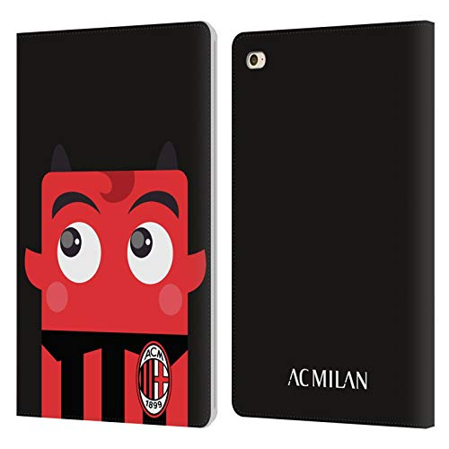 Official AC Milan Mascotte Art Leather Book Wallet Case Cover Compatible For Apple iPad mini 4