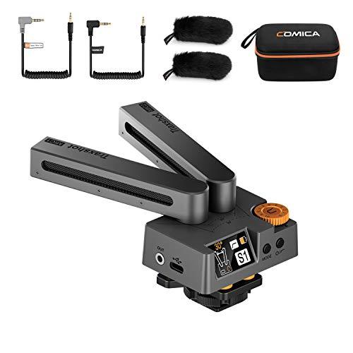 Comica Traxshot - Micrófono de video de escopeta direccional transformable súper cardioide...