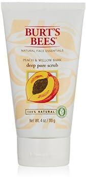 Burt s Bees Peach and Willowbark Deep Pore Scrub 4 Ounces  Pack of 2