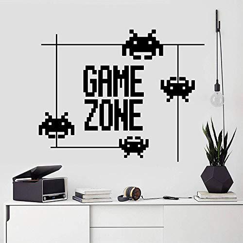 Game Zone Cartoon Spiel Wandaufkleber Word Style Kunst Aufkleber Tür Fenster Vinyl Wandbild Gamer Teenager Jungen schlafen Gaming Home Decoration Poster Wallpaper