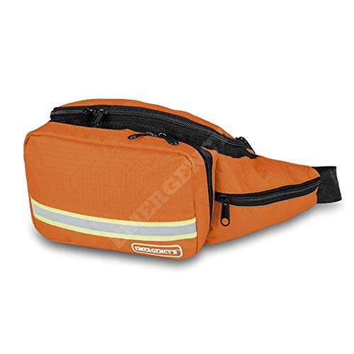 Riñonera botiquín de emergencias naranja.