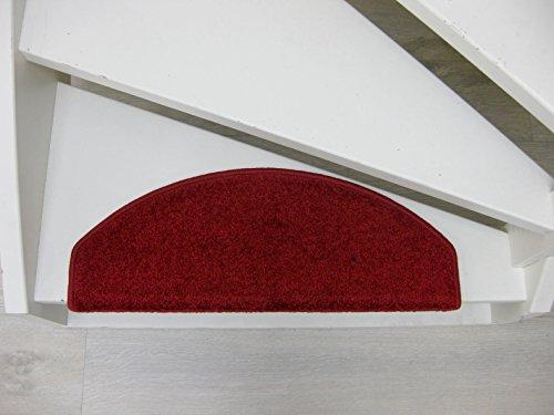 15 Tappeti per scalini - passatoie per singoli gradin Freetown 65x24x4cm Rosso Viola Marrone (Rosso)