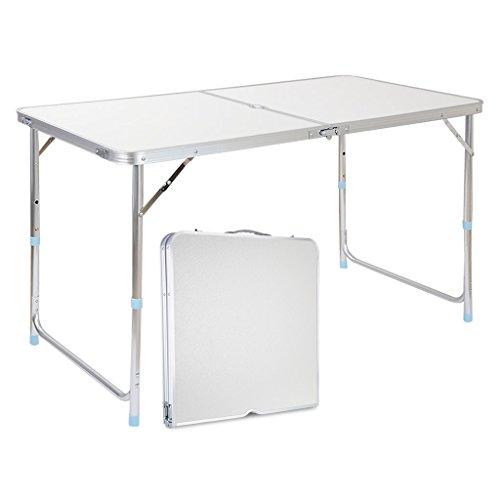Finether Tavolino Pieghevole Esterno per Terrazzo Campeggio Camper Picnic, in Alluminio