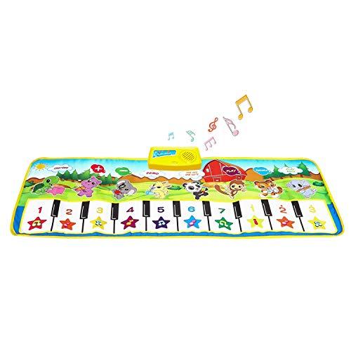 SANLINKEE Tappetino Pianoforte per Bambini, Tappetini Musicali Touch Play Tappeto Musicale per Bambini