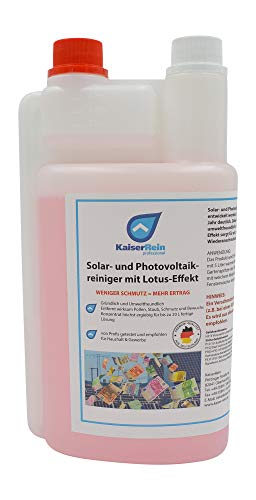 KaiserRein Solaranlagen und Photovoltaik 1 L Reiniger Konzentrat für Solar Photovoltaikanlagen Solarreiniger Lotus Effekt