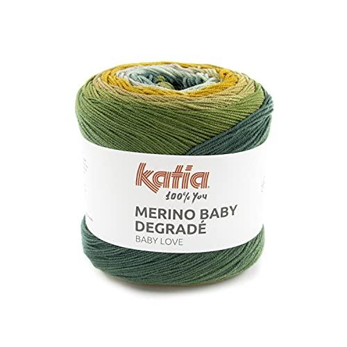 Katia Baby Degradé Color 304 - Lana de merino para bebé, sin mulesing, con degradado, para punto o ganchillo
