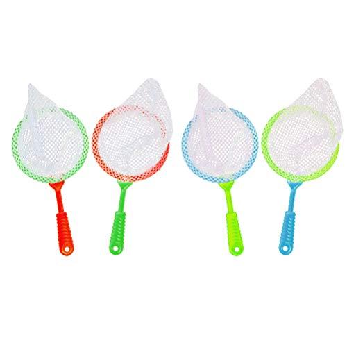 4 stücke Kinder Kunststoff Große Fischernetze Durable Kinder Bug Catcher Netze Insekt Sammelnetz Bad Bad Spielzeug Abenteuer Werkzeug Kind