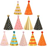 ZSWQ Kegelhut, Partyhüte zum Geburtstag, Papierhut für Kinder, Erwachsene, Party, Partyhüte, Dekoration, 11 Stück