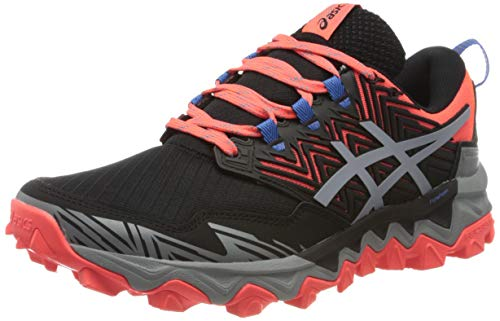 Asics Gel-Fujitrabuco 8, Running Shoe Womens, Flash Coral/Sheet Rock, 40 EU
