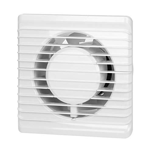 Virone Extractor Aire Para Baño Montaje en pared de 100 mm, funcionamiento silencioso (con temporizador)