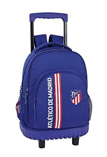 Atlético de Madrid 'In Blue' Oficial Mochila Escolar Grande Con Ruedas 320x140x460mm