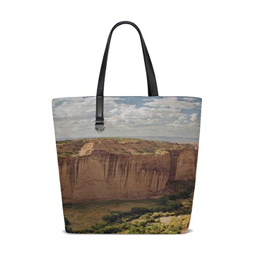 Mountain Canyon Landscape Sky Clouds Tote Bag Purse Handbag For Women Girls
