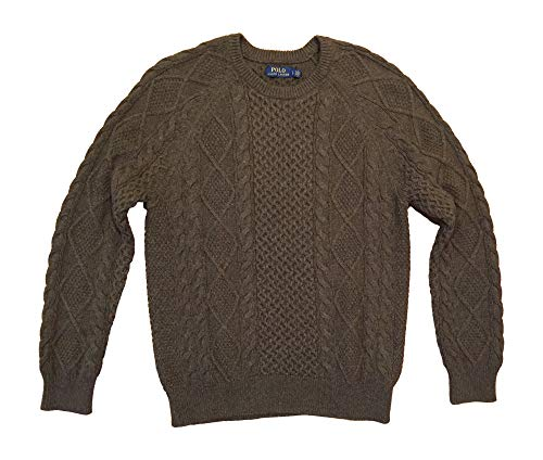 Polo Ralph Lauren Men's Cable-Knit Fisherman Sweater L Green