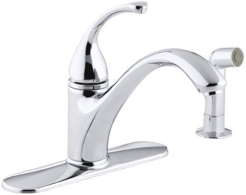 KOHLER K-10412-CP Forte Single Control Kitchen Sink Faucet, Polished Ch