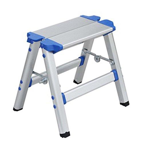 CAIJUN Taburete De Escalera Aleación De Aluminio Grueso Multifunción Plegable Portátil Venta Al por Mayor Impermeable Antideslizante, Escalera De 2 Escalones Doble Uso