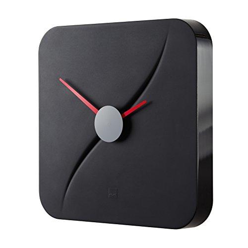 Sigel WU131 moderne, große Design-Wanduhr, Modell kada, schwarz, 35x35 cm, reddot design award 2014 Gewinner