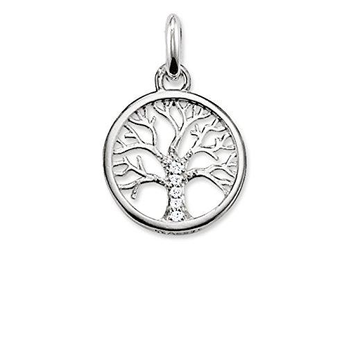 THOMAS SABO Damen Kettenanhänger Lebensbaum 925 Sterling Silber
