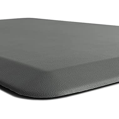 GORILLA GRIP Original 3/4  Premium Anti-Fatigue Comfort Mat, Phthalate Free, Ships Flat, Ergonomically Engineered, Extra Support and Thick, Kitchen and Office Standing Desk (32x20: Gray)