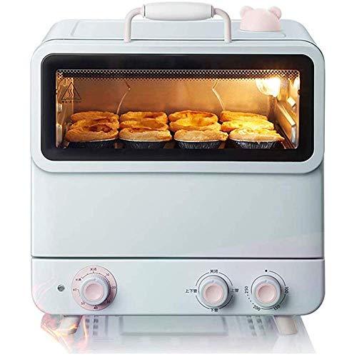Ofen, 20L Mini Dampfbackofen Einstellbare Temperatur 100-250 ℃ und 60 Minuten Timer Multifunktionale Haushalt Dampfgarer Integrierte Maschine Double-Layer-ausgeglichene Glas-Tür eingebaute Beleuchtung