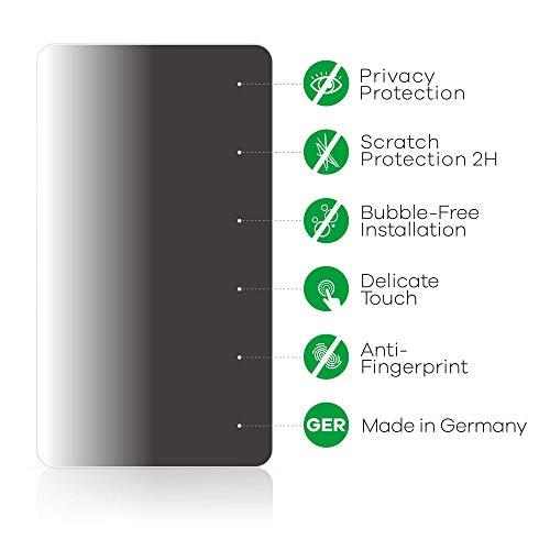 Anti-Spy Blickschutzfolie kompatibel mit Huawei P8 Lite Smart Privacy Screen Sichtschutz Displayschutz-Folie - 5